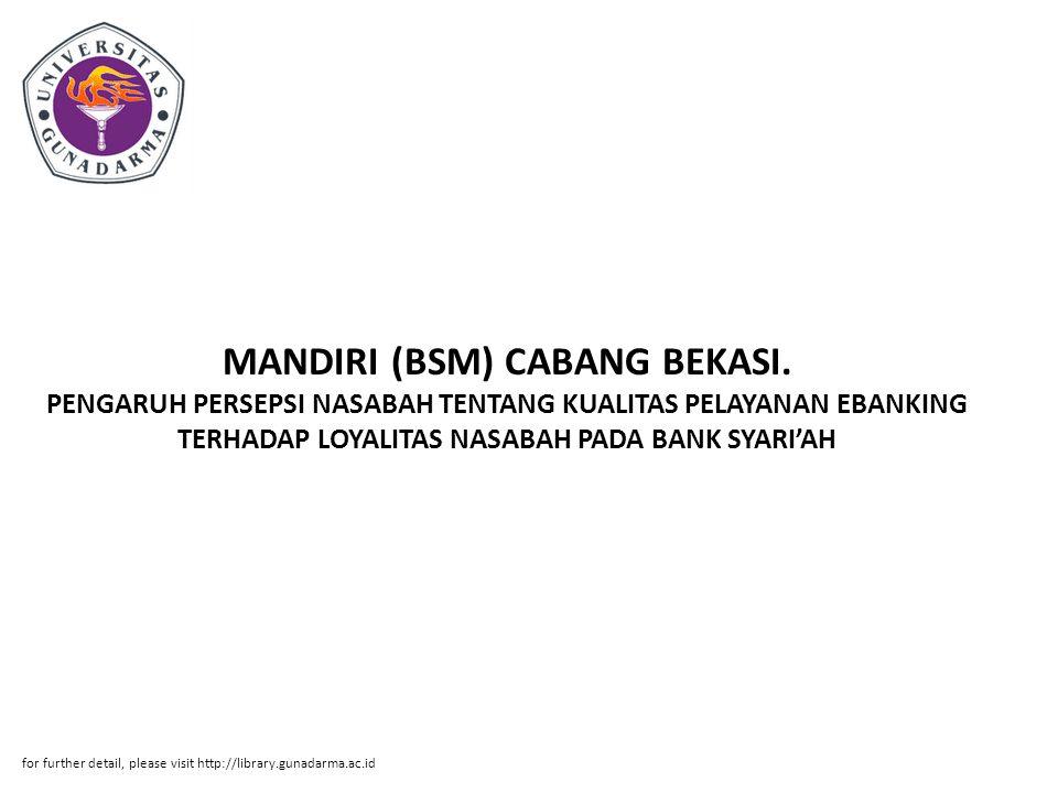 MANDIRI (BSM) CABANG BEKASI