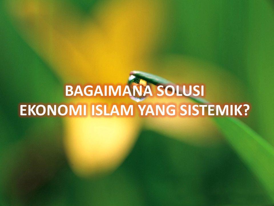 BAGAIMANA SOLUSI EKONOMI ISLAM YANG SISTEMIK