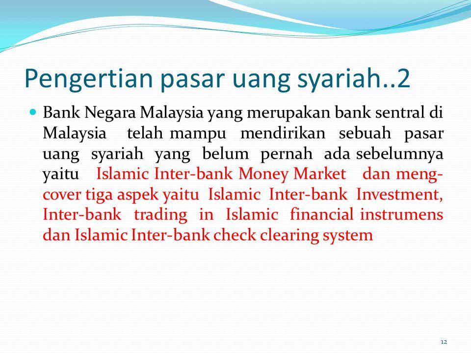 Pengertian pasar uang syariah..2