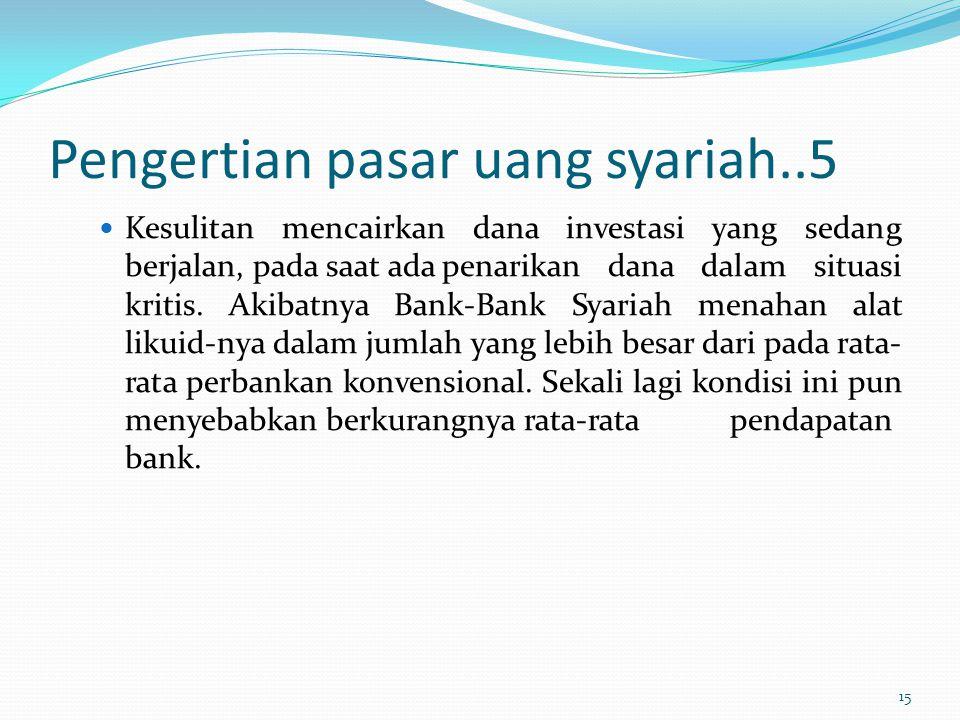 Pengertian pasar uang syariah..5