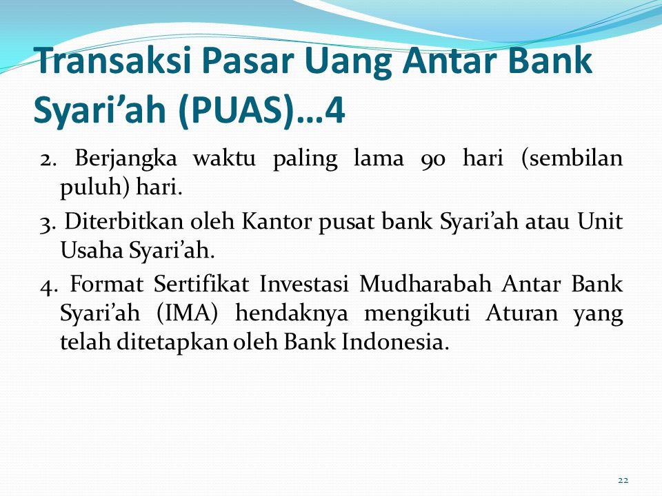 Transaksi Pasar Uang Antar Bank Syari'ah (PUAS)…4