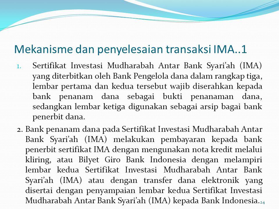 Mekanisme dan penyelesaian transaksi IMA..1