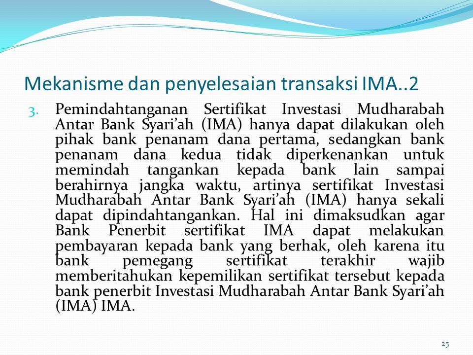 Mekanisme dan penyelesaian transaksi IMA..2