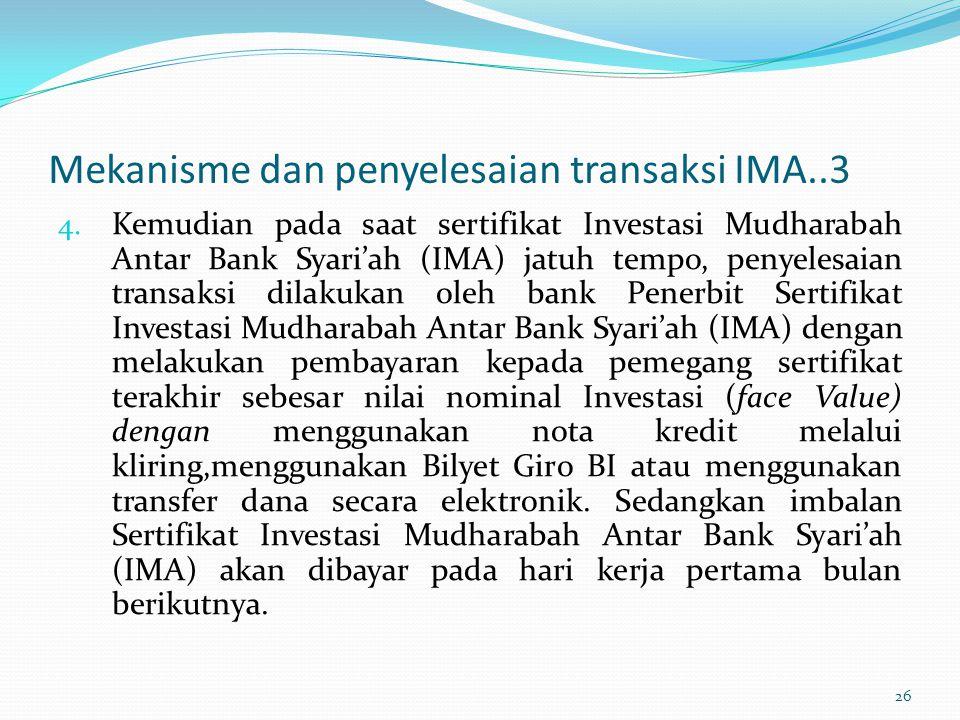 Mekanisme dan penyelesaian transaksi IMA..3