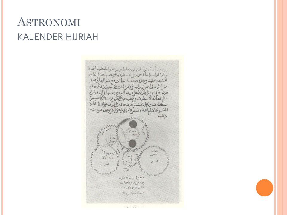 Astronomi kalender hijriah