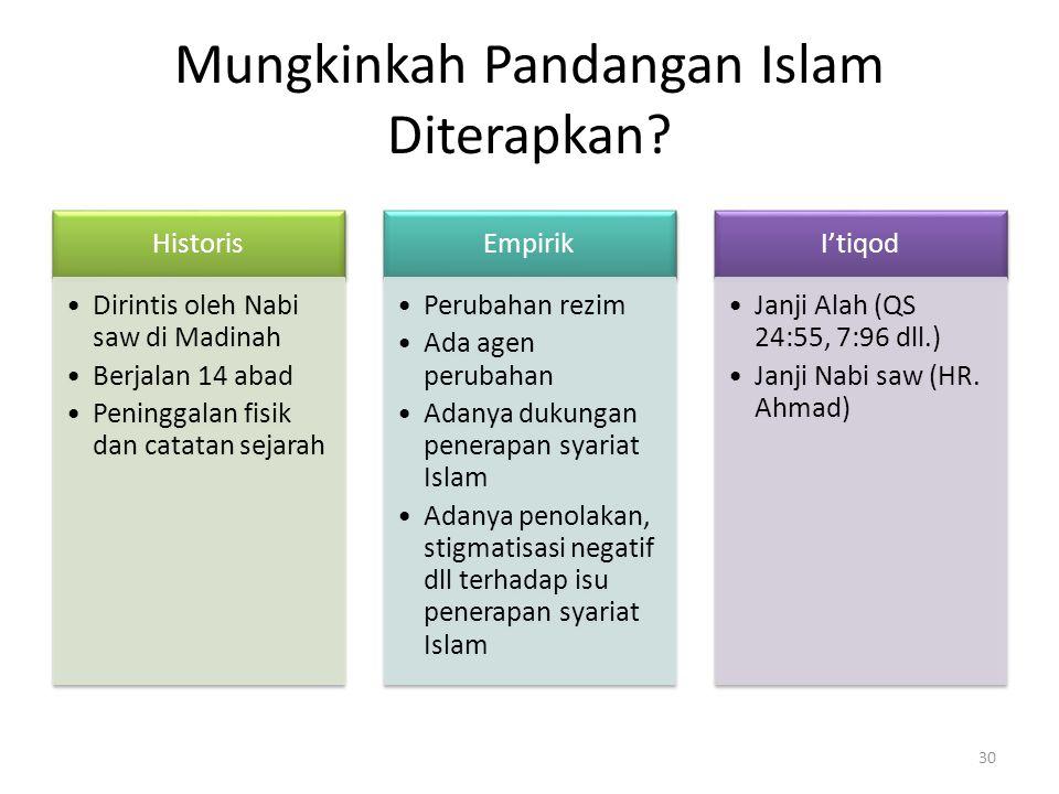 Mungkinkah Pandangan Islam Diterapkan