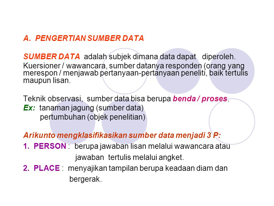 A. PENGERTIAN SUMBER DATA