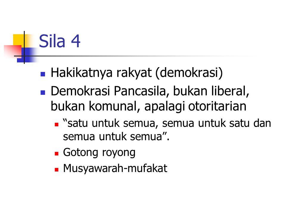 Sila 4 Hakikatnya rakyat (demokrasi)