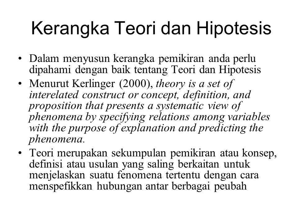 Kerangka Teori dan Hipotesis