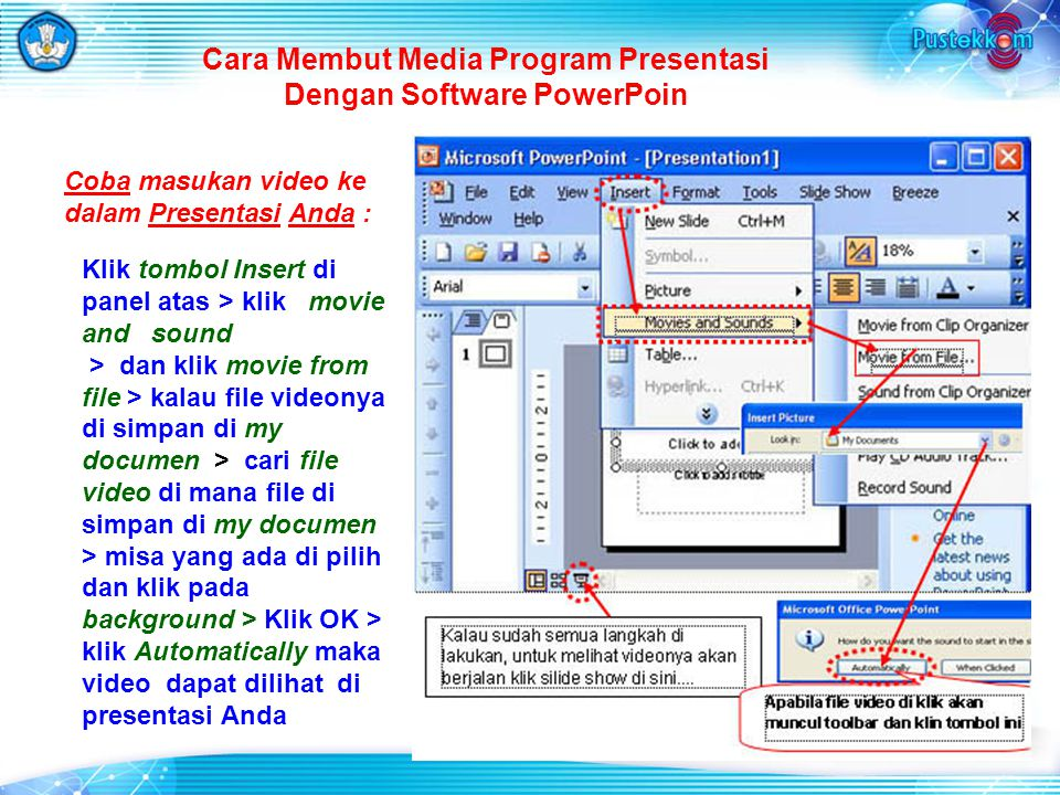 Cara Membut Media Program Presentasi Dengan Software PowerPoin