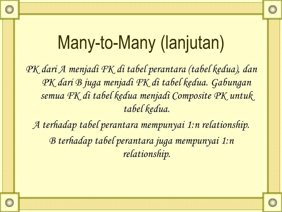 Many-to-Many (lanjutan)