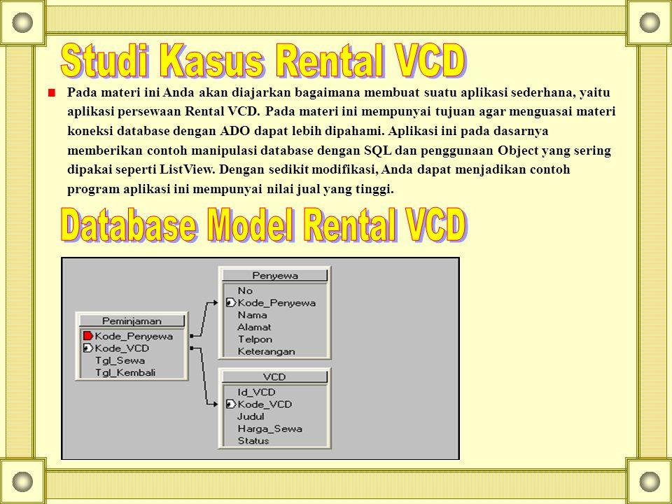 Database Model Rental VCD