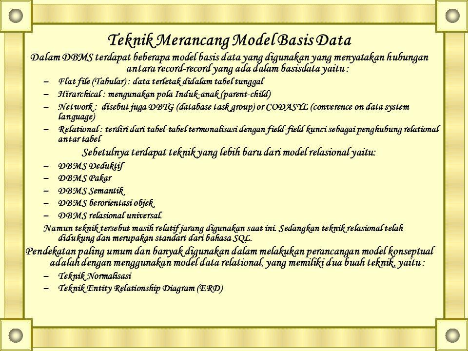 Teknik Merancang Model Basis Data