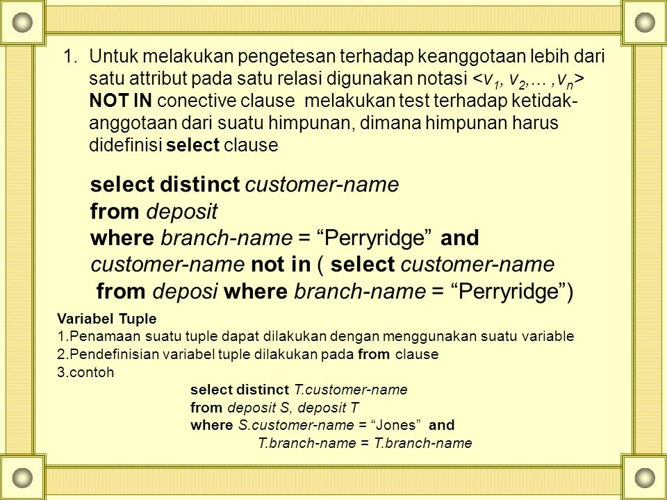 select distinct customer-name from deposit