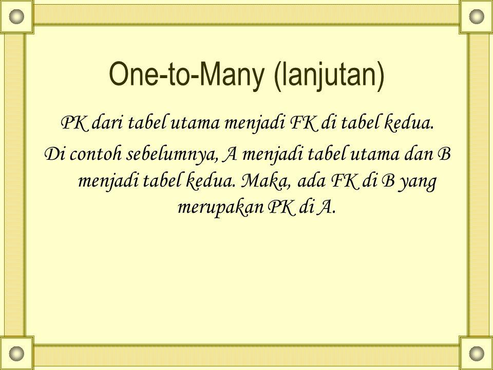 One-to-Many (lanjutan)