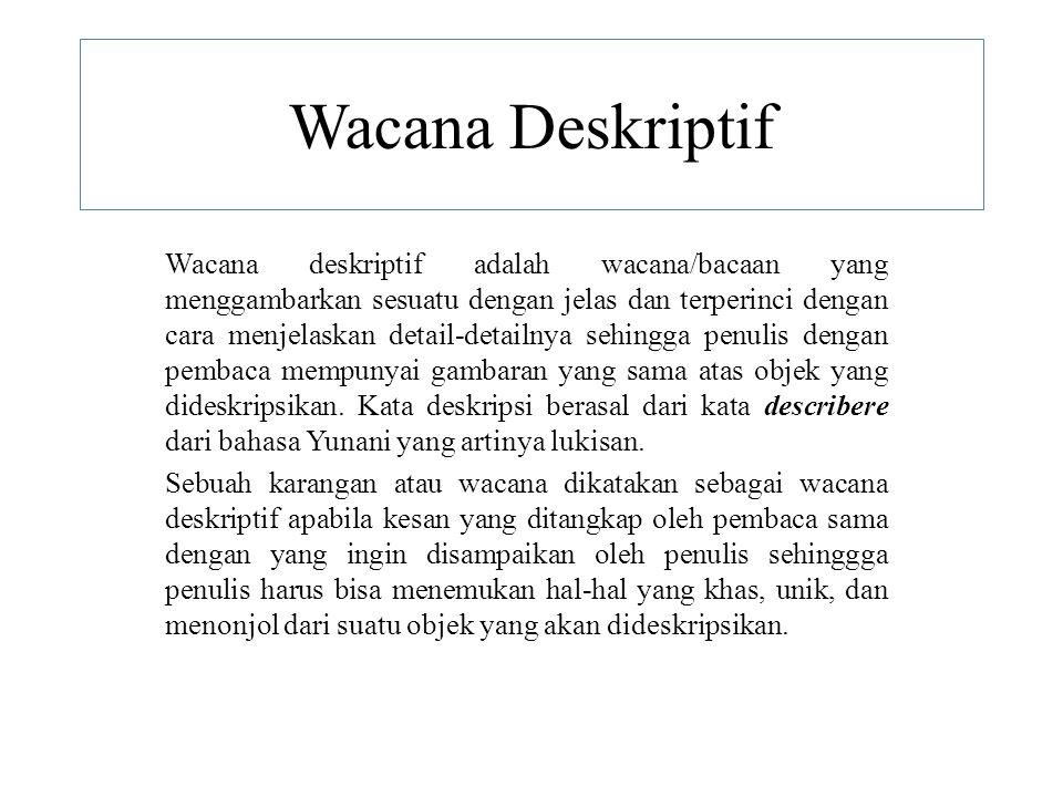 Wacana Deskriptif