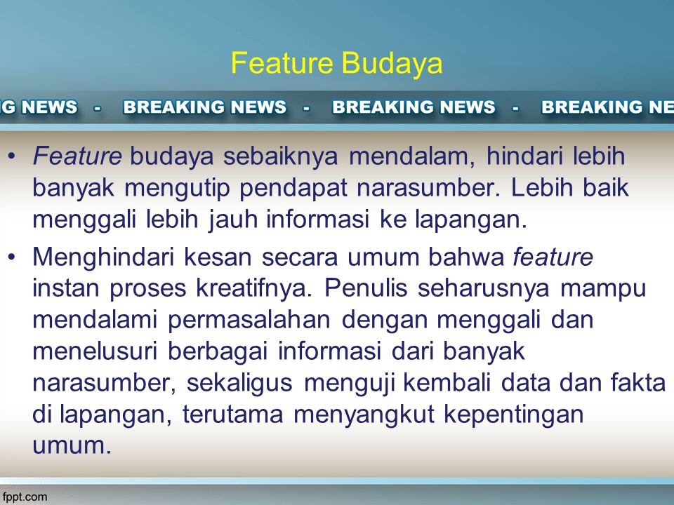 Feature Budaya