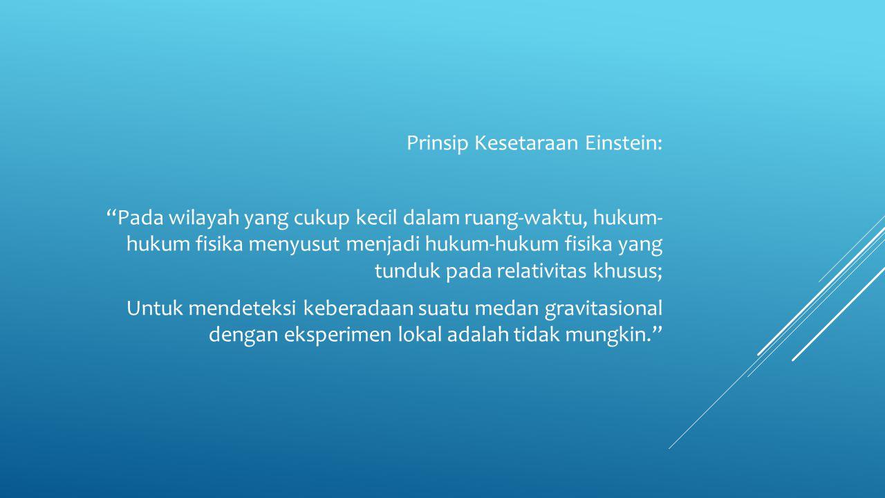Prinsip Kesetaraan Einstein: