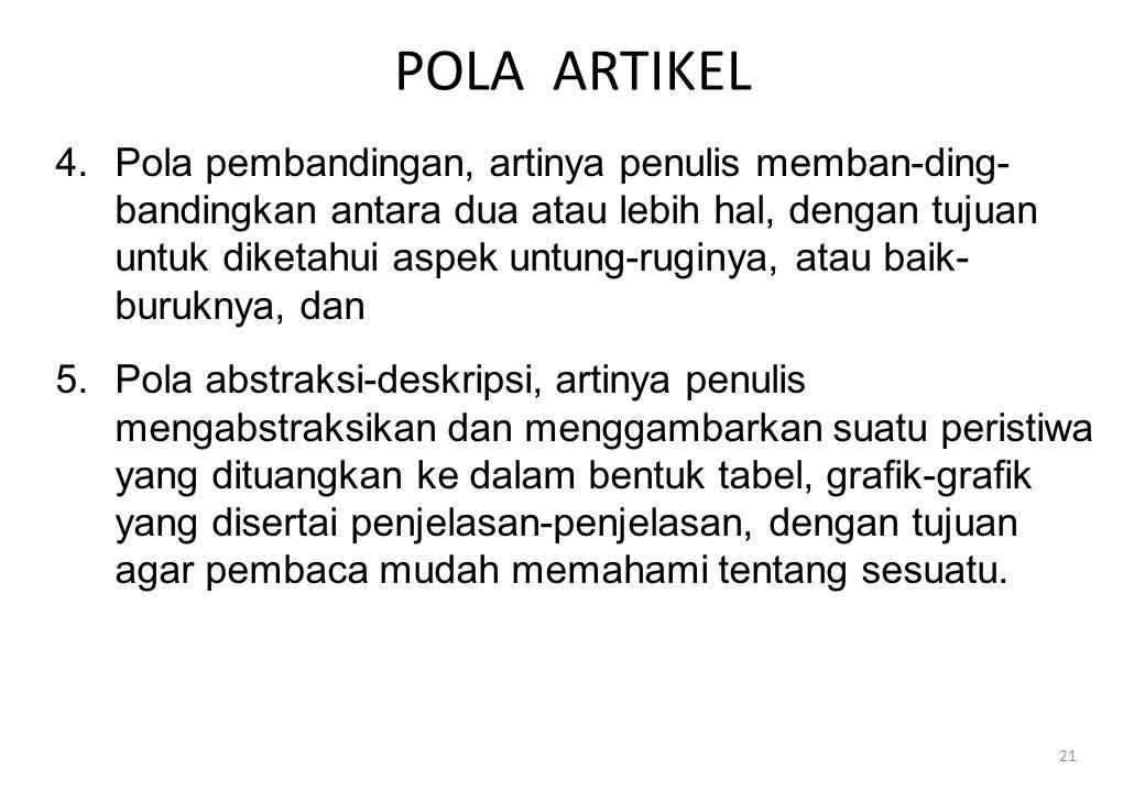 POLA ARTIKEL