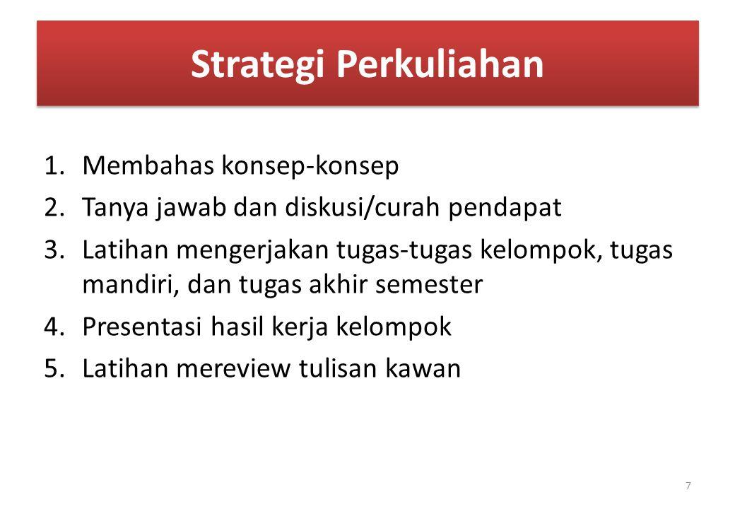 Strategi Perkuliahan Membahas konsep-konsep