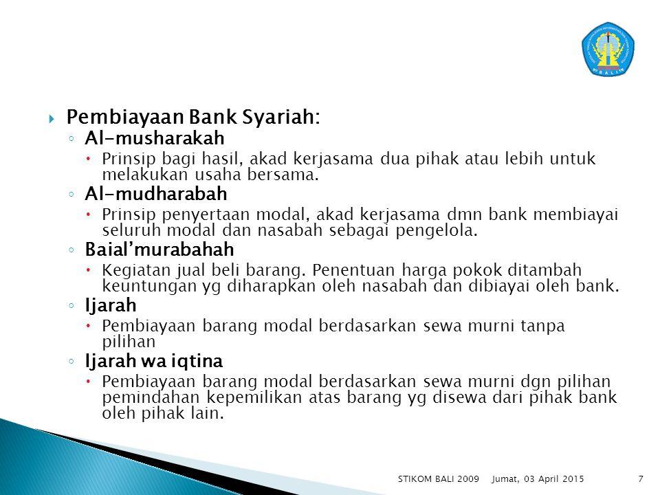 Pembiayaan Bank Syariah: