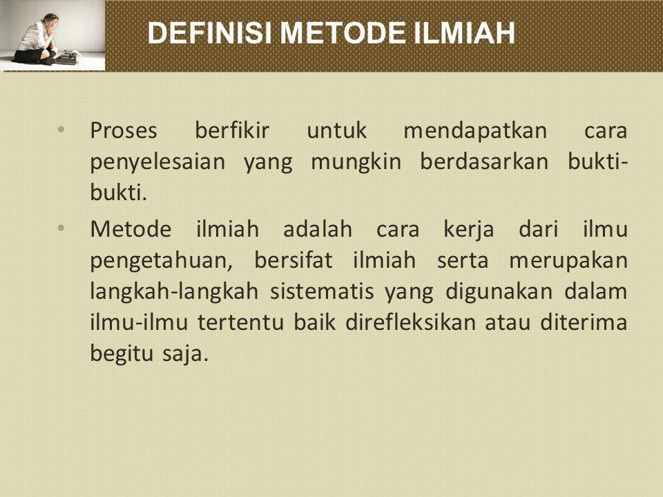 DEFINISI METODE ILMIAH