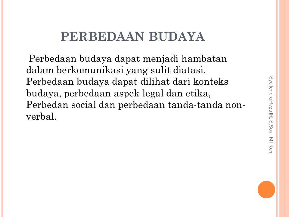 PERBEDAAN BUDAYA