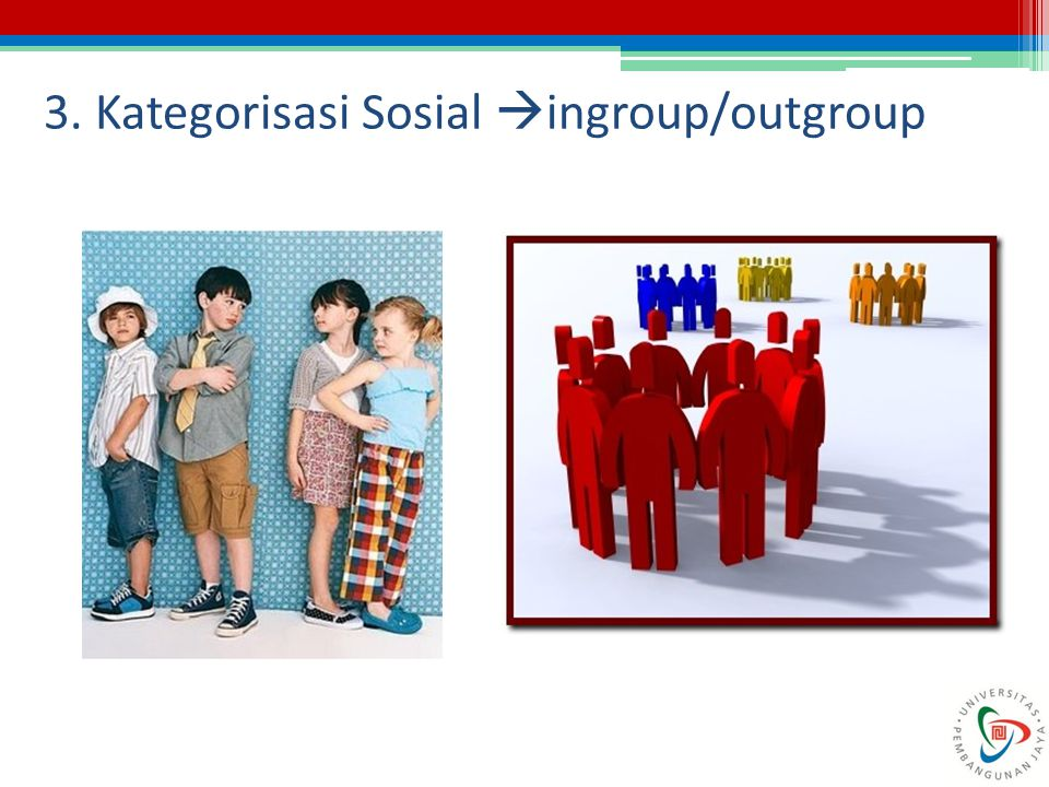 3. Kategorisasi Sosial ingroup/outgroup