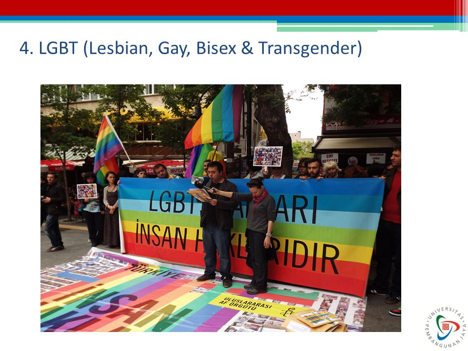 4. LGBT (Lesbian, Gay, Bisex & Transgender)
