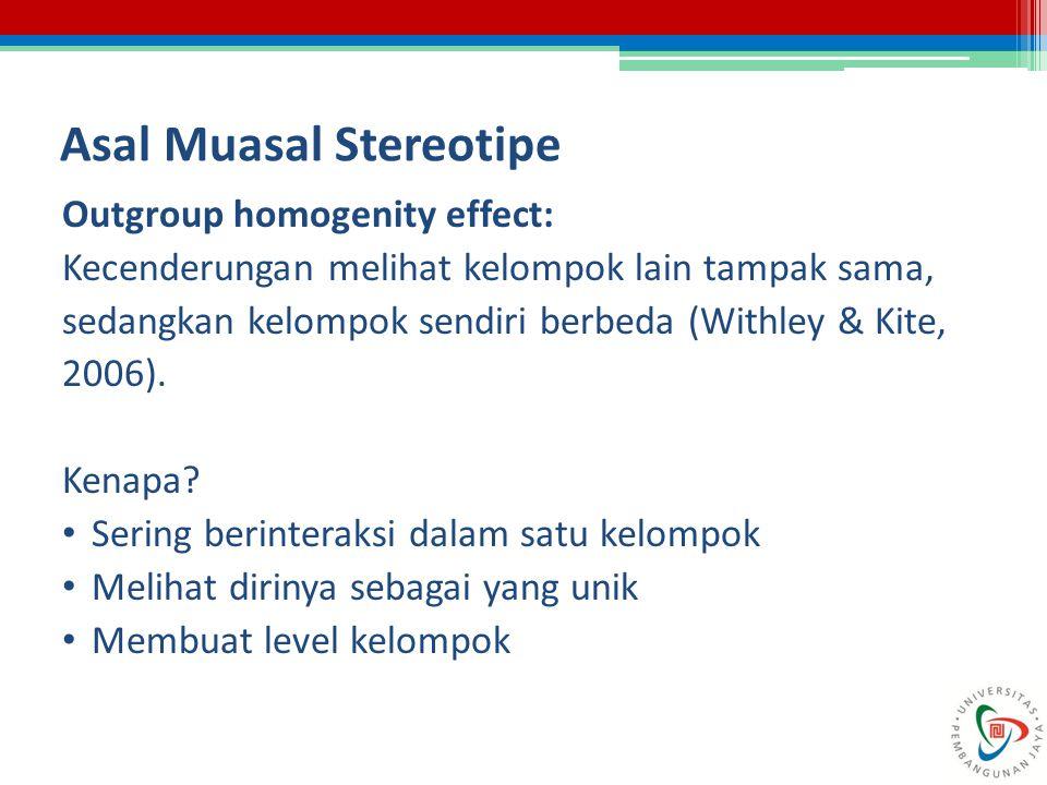 Asal Muasal Stereotipe