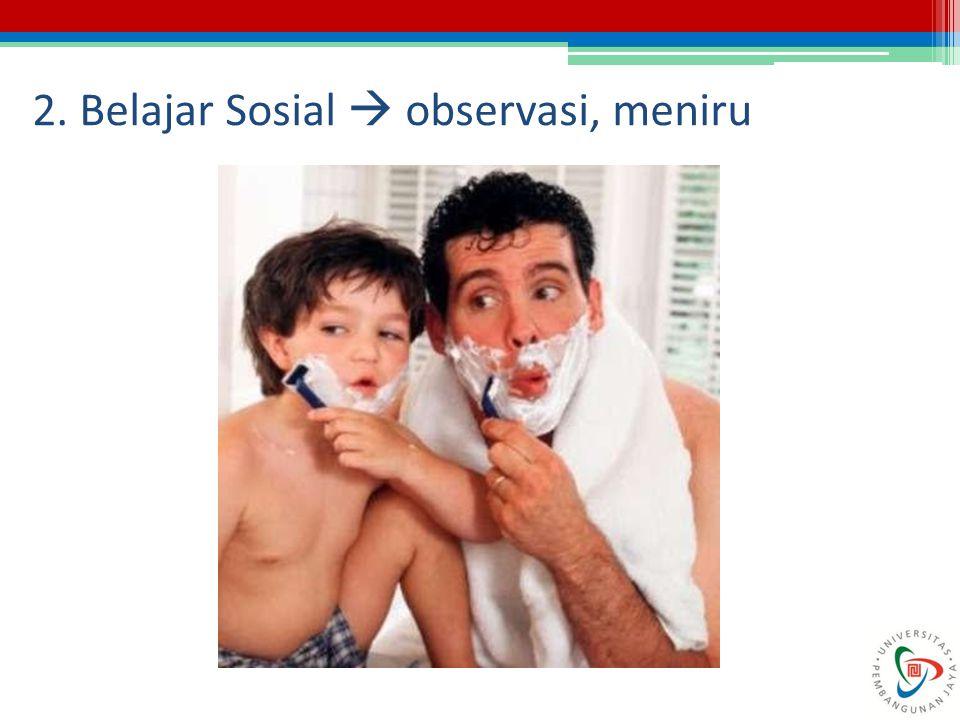 2. Belajar Sosial  observasi, meniru