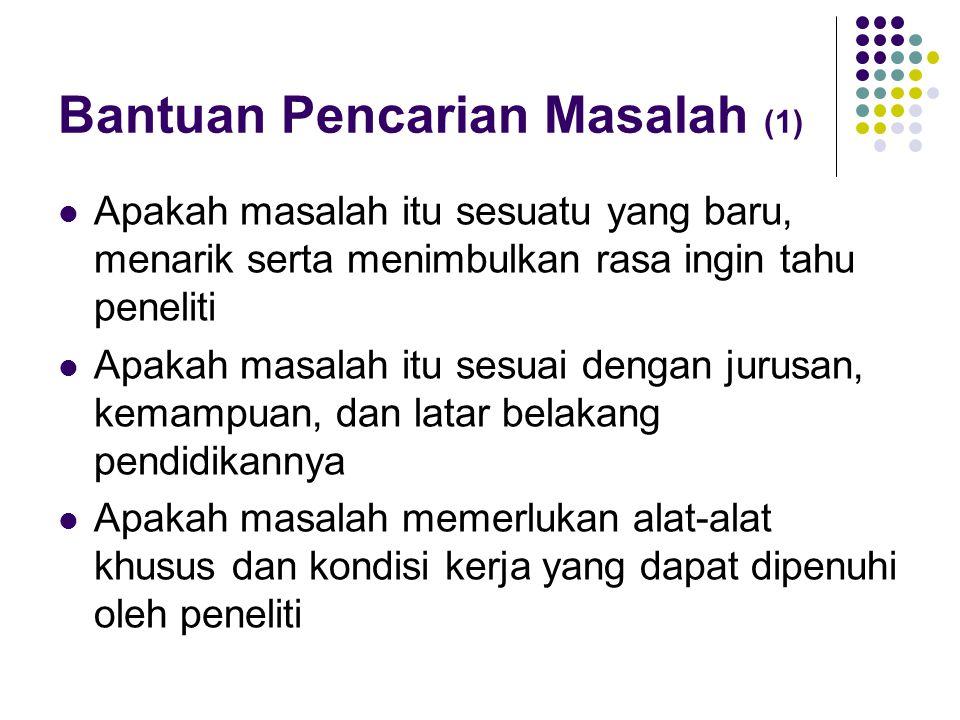 Bantuan Pencarian Masalah (1)