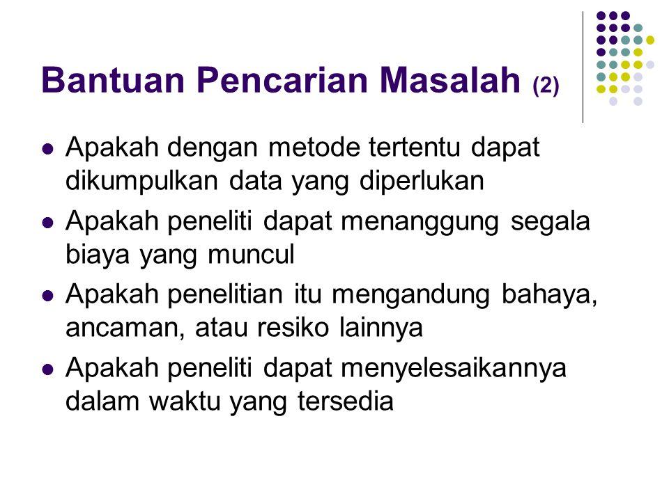 Bantuan Pencarian Masalah (2)