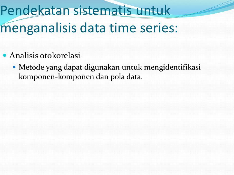 Pendekatan sistematis untuk menganalisis data time series: