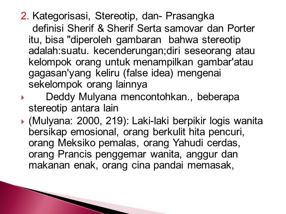 2. Kategorisasi, Stereotip, dan- Prasangka