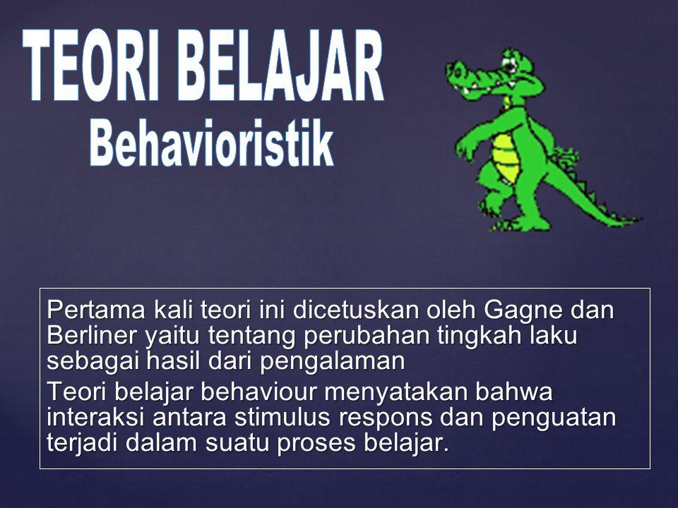 Behavioristik TEORI BELAJAR