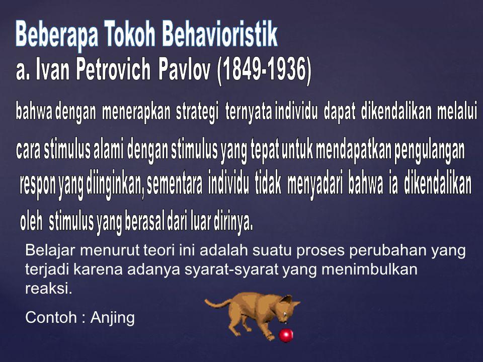 Beberapa Tokoh Behavioristik