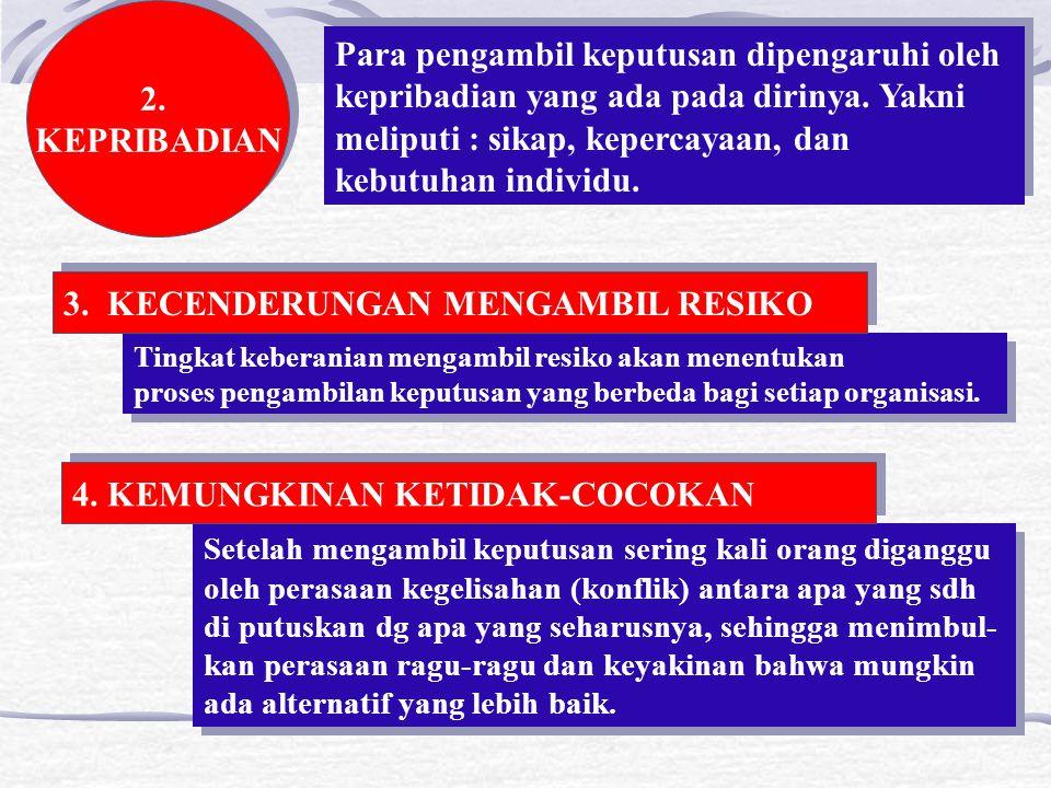 3. KECENDERUNGAN MENGAMBIL RESIKO