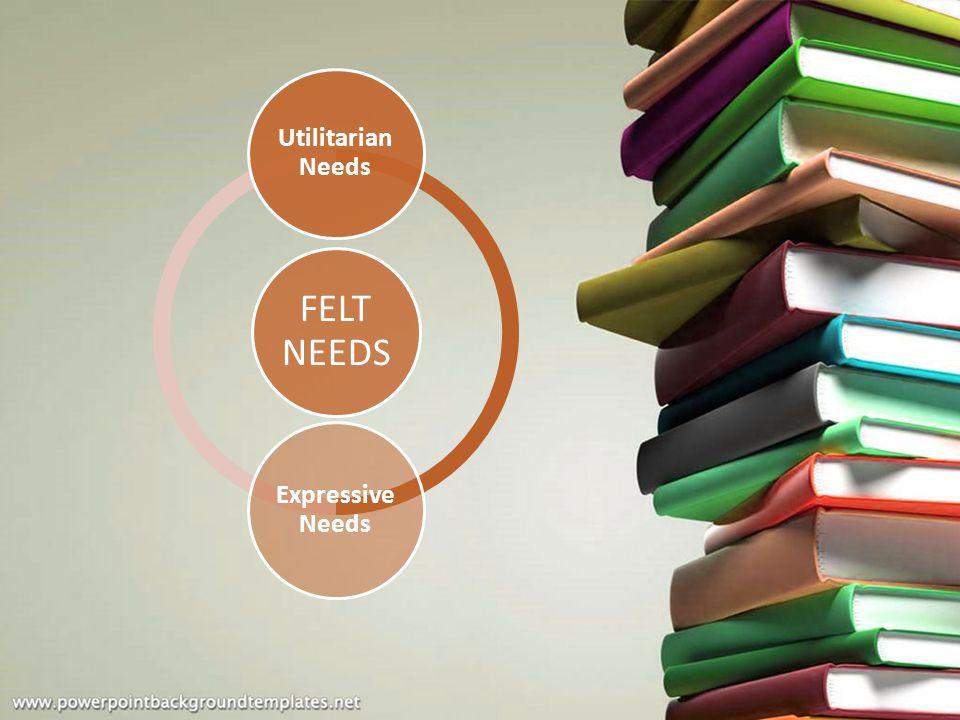 Utilitarian Needs Expressive Needs