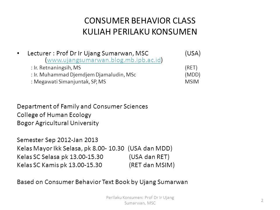 CONSUMER BEHAVIOR CLASS KULIAH PERILAKU KONSUMEN