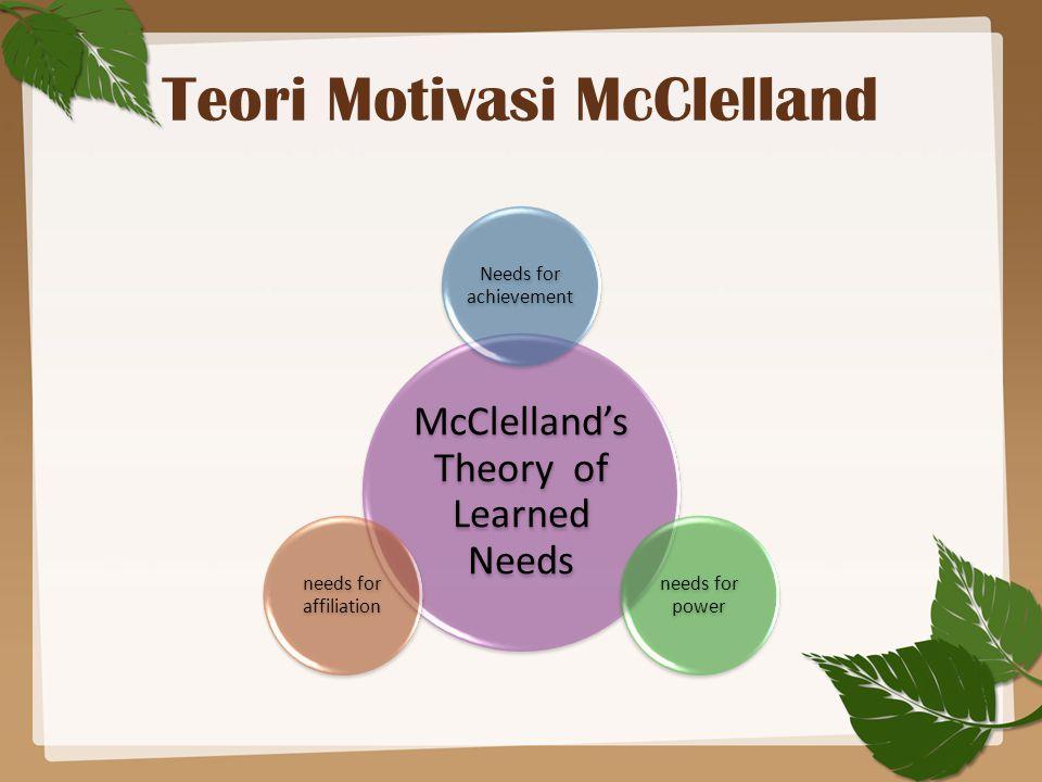 Teori Motivasi McClelland