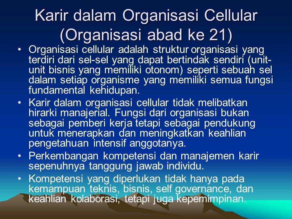 Karir dalam Organisasi Cellular (Organisasi abad ke 21)