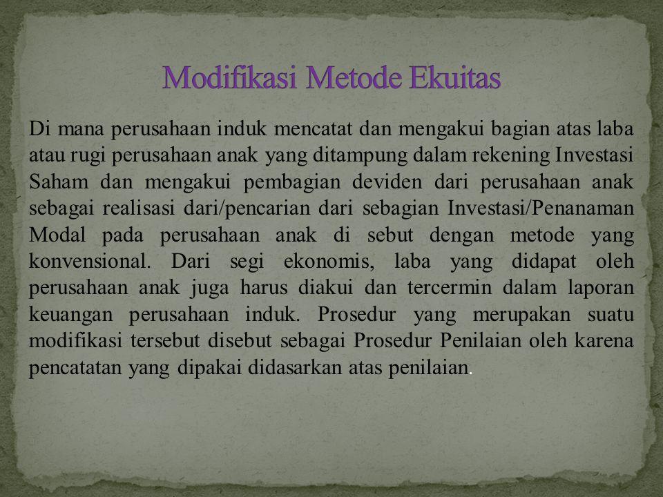 Modifikasi Metode Ekuitas
