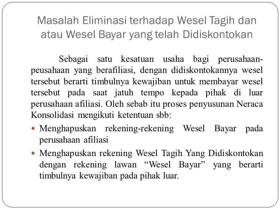 Masalah Eliminasi terhadap Wesel Tagih dan atau Wesel Bayar yang telah Didiskontokan