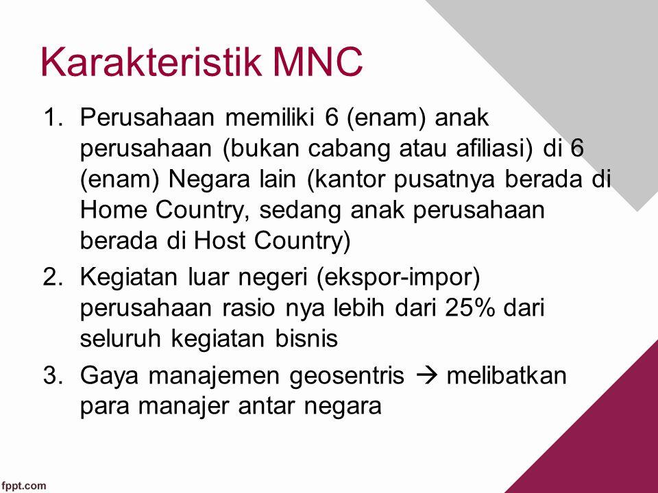 Karakteristik MNC