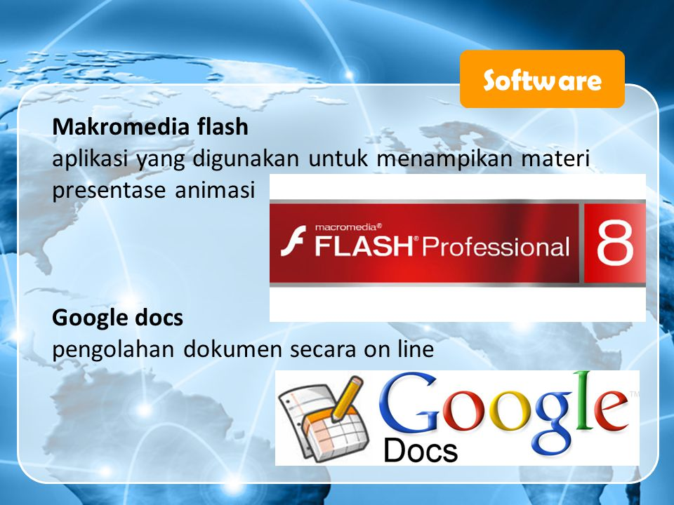 Software Makromedia flash