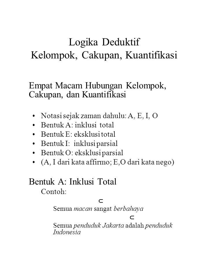Logika Deduktif Kelompok, Cakupan, Kuantifikasi