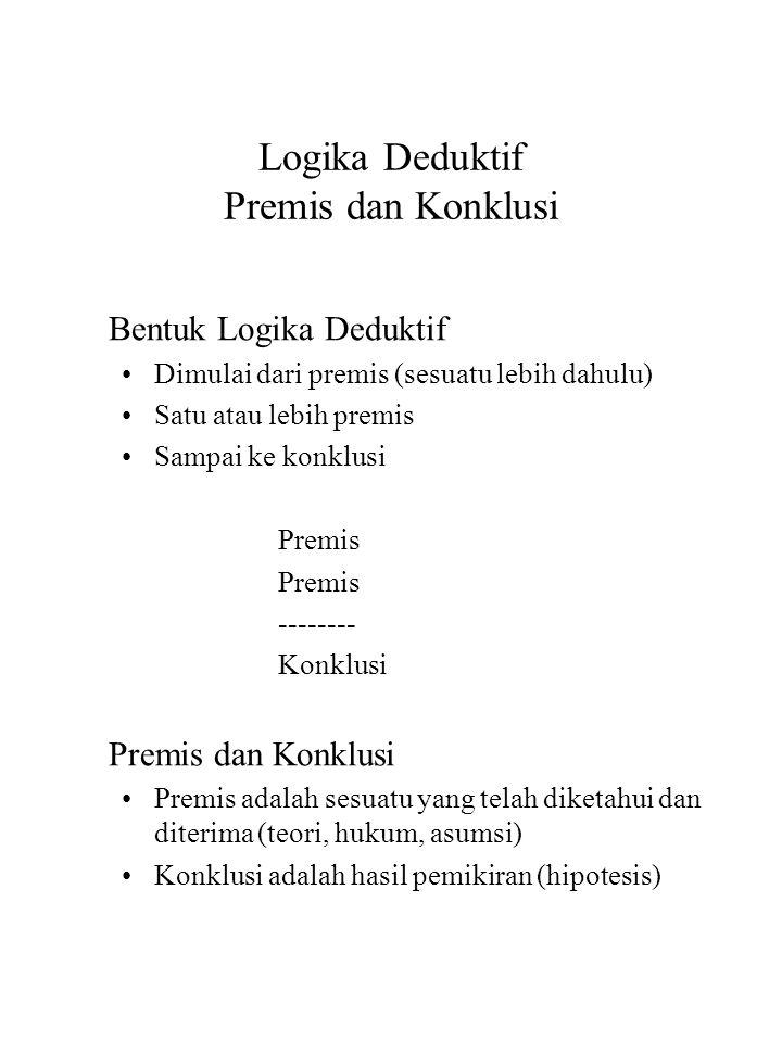 Logika Deduktif Premis dan Konklusi