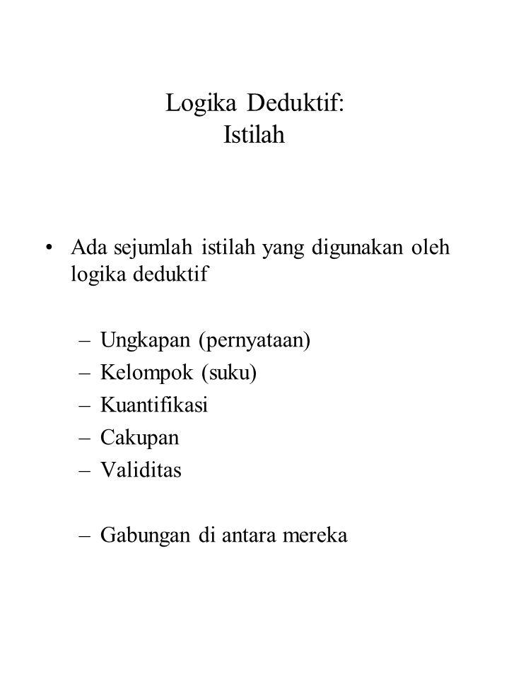 Logika Deduktif: Istilah