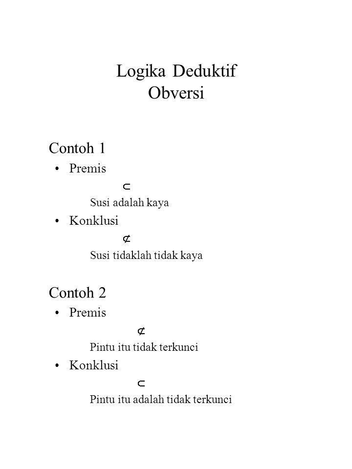Logika Deduktif Obversi